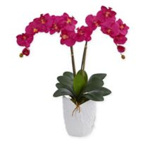 Nearly Natural 24-Inch Artificial Orchid Arrangement in Red