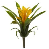 Nearly Natural 10-Inch Bromeliad Artificial Flower in Yellow