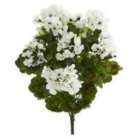 Nearly Natural White Geranium Artificial Bush
