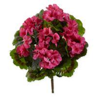 Nearly Natural Pink Geranium Artificial Bush