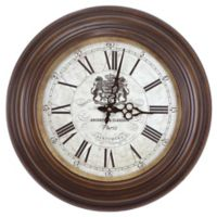 Yosemite Home Décor Archbutt & Clareson Paris Wall Clock in Brown