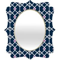 DENY Designs Annika Diamond Orchid Small Wall Mirror