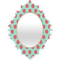 Deny Designs Adorable Dots Baroque Small Wall Mirror