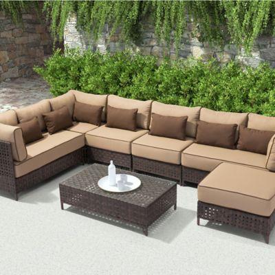 Zuo® Pinery 6 Piece Conversation Set In Brown