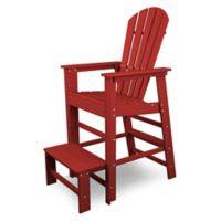 POLYWOOD® South Beach Lifeguard Chair in Sunset Red