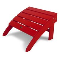 POLYWOOD® South Beach Adirondack Ottoman in Sunset Red