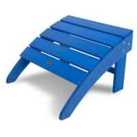 POLYWOOD® South Beach Adirondack Ottoman in Pacific Blue