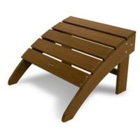 POLYWOOD® South Beach Adirondack Ottoman in Teak