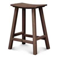 POLYWOOD® South Beach 24-Inch Saddle Bar Stool in Mahogany