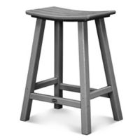POLYWOOD® South Beach 24-Inch Saddle Bar Stool in Slate Grey
