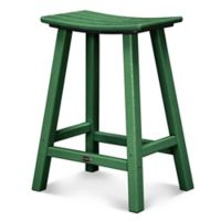 POLYWOOD® South Beach 24-Inch Saddle Bar Stool in Green