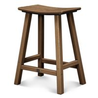 POLYWOOD® South Beach 24-Inch Saddle Bar Stool in Teak
