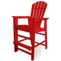 POLYWOOD® South Beach Bar Chair in Sunset Red