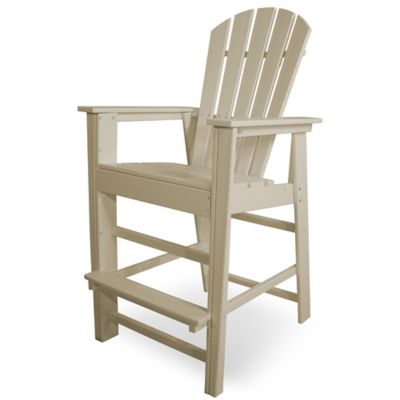 POLYWOOD® South Beach Bar Chair In Sand