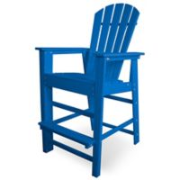 POLYWOOD® South Beach Bar Chair in Pacific Blue