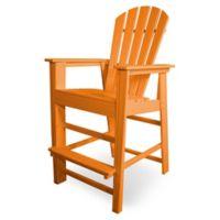 POLYWOOD® South Beach Bar Chair in Tangerine