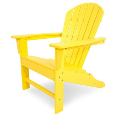 POLYWOOD® South Beach Adirondack Chair In Lemon