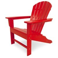 POLYWOOD® South Beach Adirondack Chair in Sunset Red