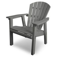 POLYWOOD® Seashell Dining Chair in Slate Grey