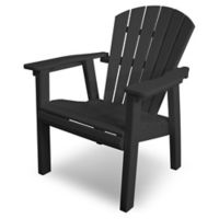 POLYWOOD® Seashell Dining Chair in Black