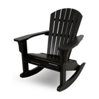 POLYWOOD® Seashell Rocker in Black