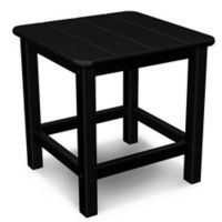 POLYWOOD® 18-Inch Seashell Side Table in Black