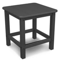 POLYWOOD® 18-Inch Seashell Side Table in Slate Grey