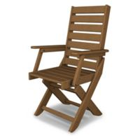 POLYWOOD® Captain Dining Chair in Teak