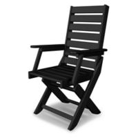 POLYWOOD® Captain Dining Chair in Black