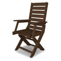 POLYWOOD® Captain Dining Chair in Mahogany