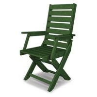 POLYWOOD® Captain Dining Chair in Green