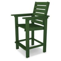 POLYWOOD® Captain Counter Chair in Green