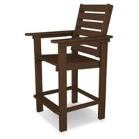 POLYWOOD® Captain Counter Chair in Mahogany