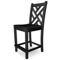 POLYWOOD® Chippendale Bar Side Chair in Black