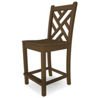 POLYWOOD® Chippendale Bar Side Chair in Teak