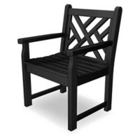 POLYWOOD® Chippendale Garden Chair in Black