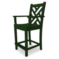 POLYWOOD® Chippendale Counter Arm Chair in Green