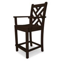 POLYWOOD® Chippendale Counter Arm Chair in Mahogany