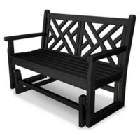 POLYWOOD® Chippendale Garden Glider in Black