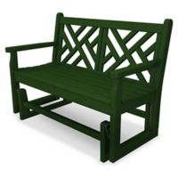 POLYWOOD® Chippendale Garden Glider in Green