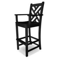 POLYWOOD® Chippendale Bar Arm Chair in Black