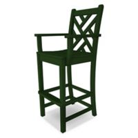 POLYWOOD® Chippendale Bar Arm Chair in Green