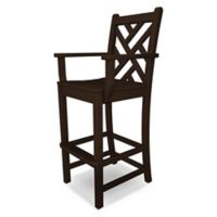 POLYWOOD® Chippendale Bar Arm Chair in Mahogany