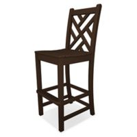 POLYWOOD® Chippendale Bar Side Chair in Mahogany