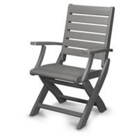 POLYWOOD® Signature Folding Chair in Slate Grey
