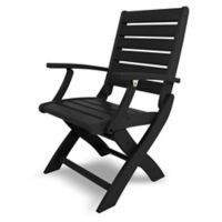 POLYWOOD® Signature Folding Chair in Black