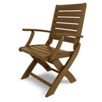 POLYWOOD® Signature Folding Chair in Teak