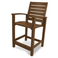 POLYWOOD® Signature Counter Chair in Teak