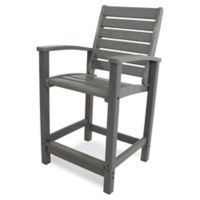 POLYWOOD® Signature Counter Chair in Slate