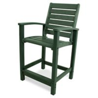 POLYWOOD® Signature Counter Chair in Green